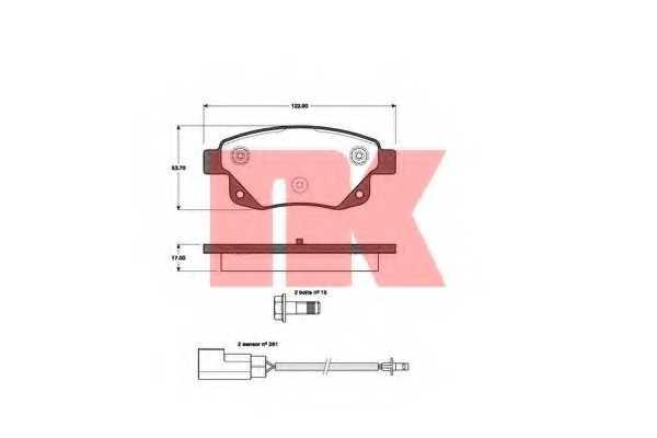 Колодки тормозные дисковые NK 222565 - изображение