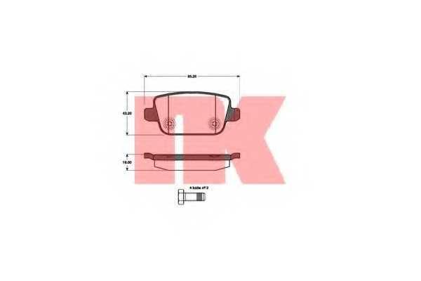 Колодки тормозные дисковые NK 222567 - изображение