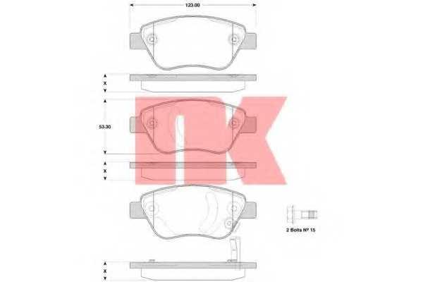 Колодки тормозные дисковые NK 223635 - изображение