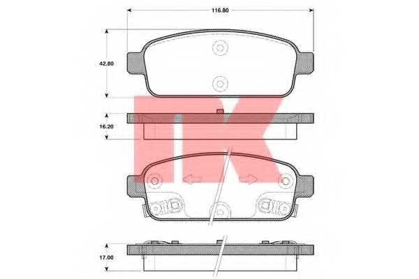 Колодки тормозные дисковые NK 223647 - изображение
