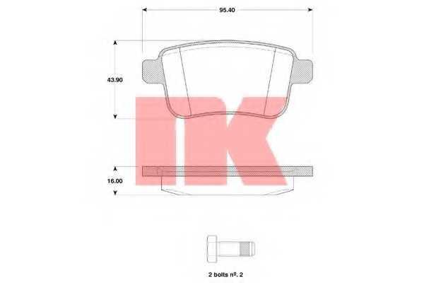 Колодки тормозные дисковые NK 223960 - изображение