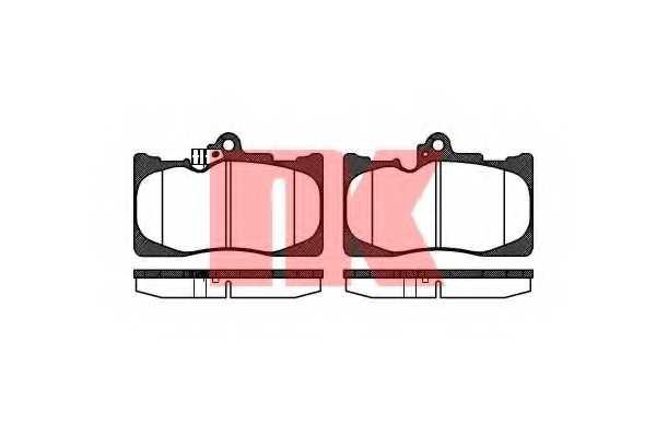 Колодки тормозные дисковые NK 224573 - изображение