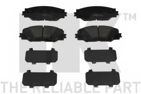 Колодки тормозные дисковые для TOYOTA AURIS, PRIUS PLUS, RAV 4, ZELAS <b>NK 224575</b> - изображение