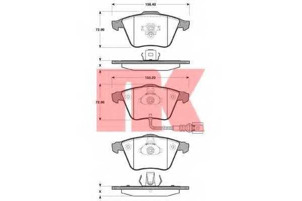 Колодки тормозные дисковые NK 2247110 - изображение
