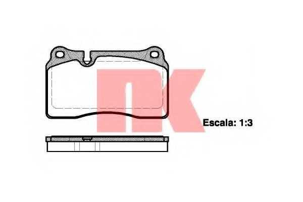 Колодки тормозные дисковые NK 224788 - изображение