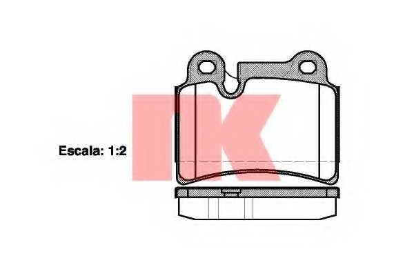 Колодки тормозные дисковые NK 224793 - изображение