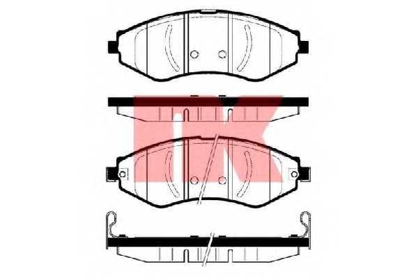 Колодки тормозные дисковые NK 225008 - изображение
