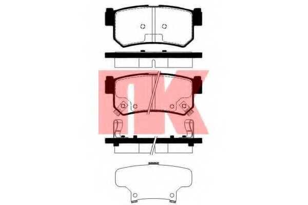 Колодки тормозные дисковые NK 225011 - изображение