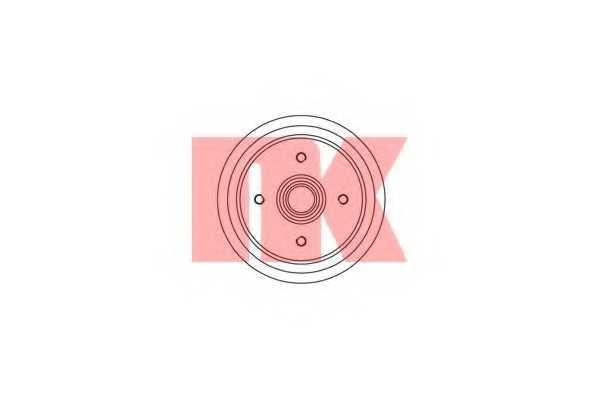 Тормозной барабан NK 252510 - изображение