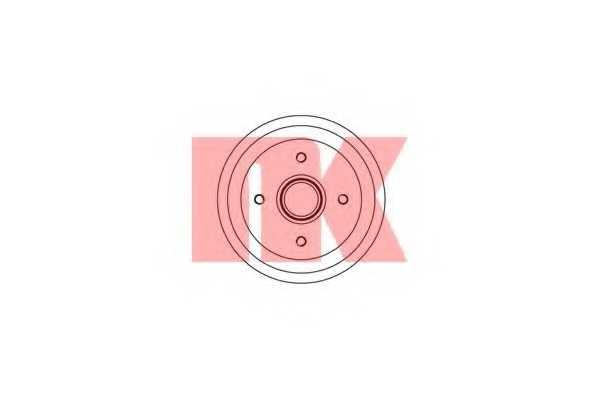 Тормозной барабан NK 252526 - изображение