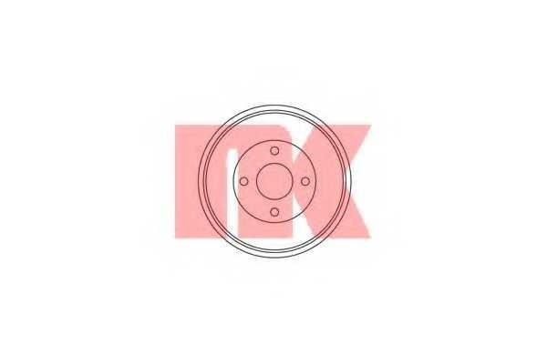Тормозной барабан NK 252528 - изображение