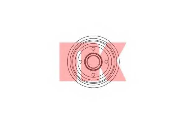 Тормозной барабан NK 252530 - изображение