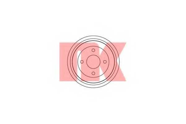 Тормозной барабан NK 252532 - изображение