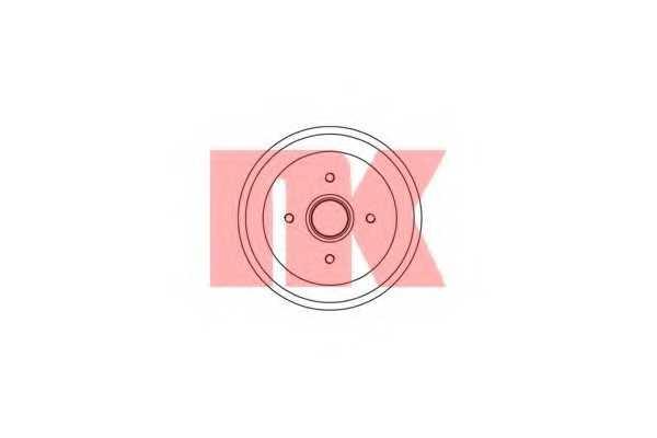 Тормозной барабан NK 252534 - изображение