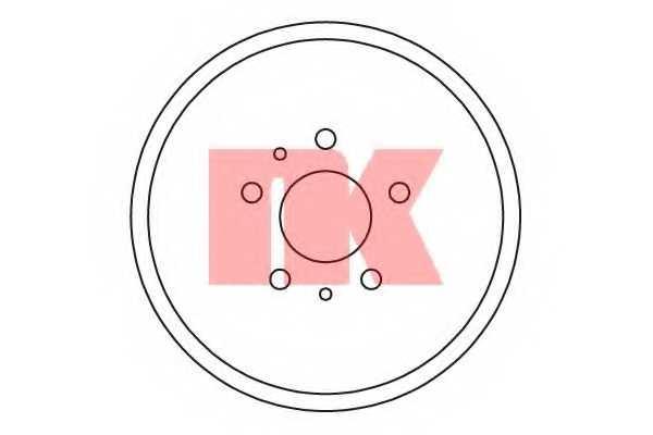 Тормозной барабан NK 252543 - изображение