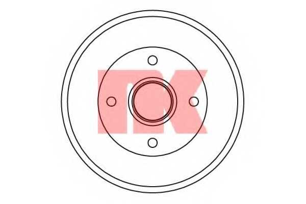 Тормозной барабан NK 252544 - изображение