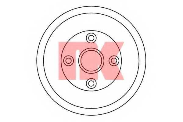Тормозной барабан NK 252607 - изображение
