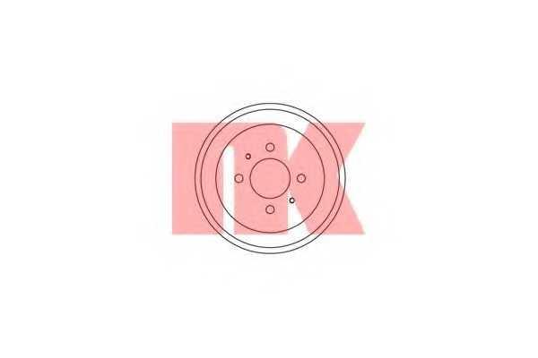 Тормозной барабан NK 253006 - изображение
