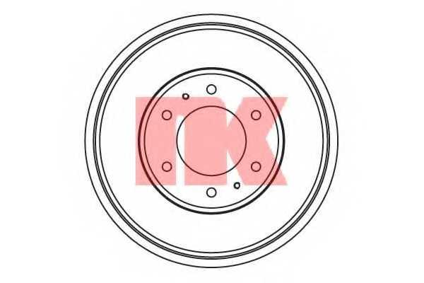 Тормозной барабан NK 253014 - изображение