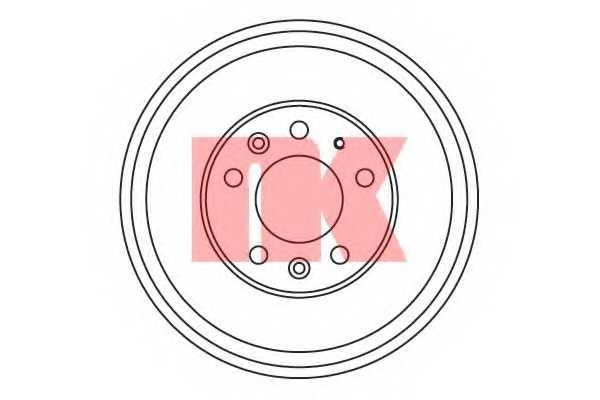 Тормозной барабан NK 253215 - изображение