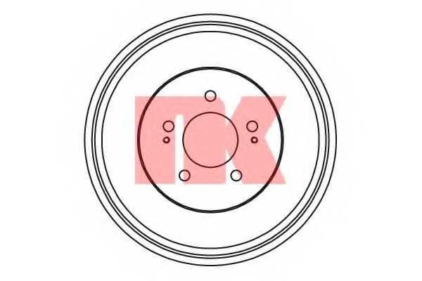 Тормозной барабан NK 253412 - изображение
