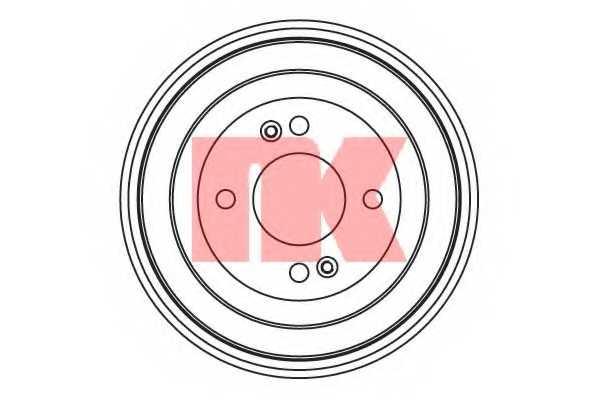Тормозной барабан NK 253413 - изображение