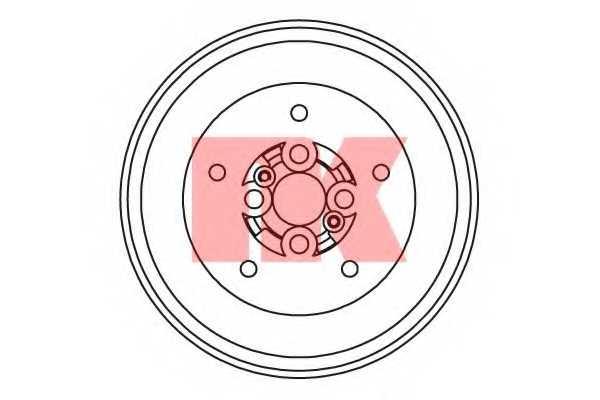 Тормозной барабан NK 253507 - изображение