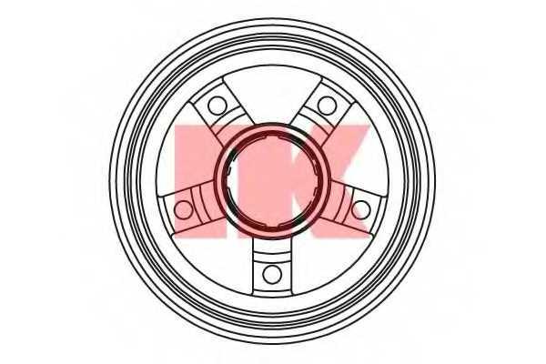 Тормозной барабан NK 253509 - изображение