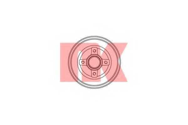 Тормозной барабан NK 253616 - изображение