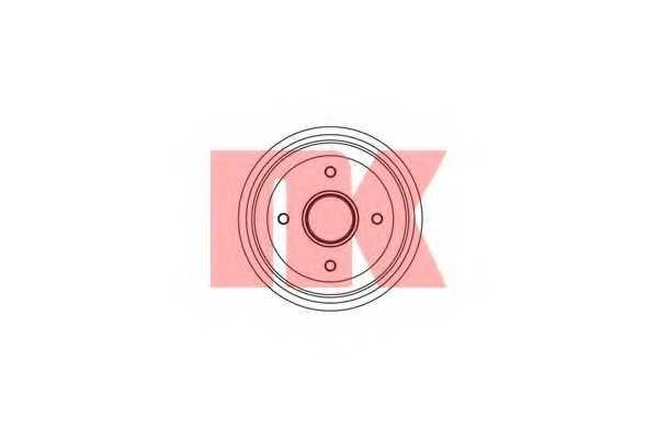 Тормозной барабан NK 253705 - изображение