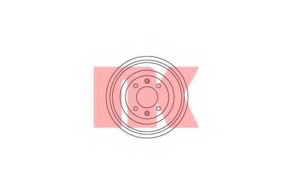 Тормозной барабан NK 253708 - изображение