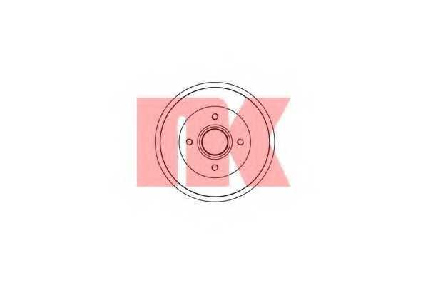 Тормозной барабан NK 253908 - изображение