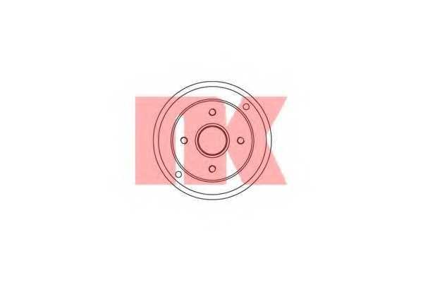 Тормозной барабан NK 253911 - изображение