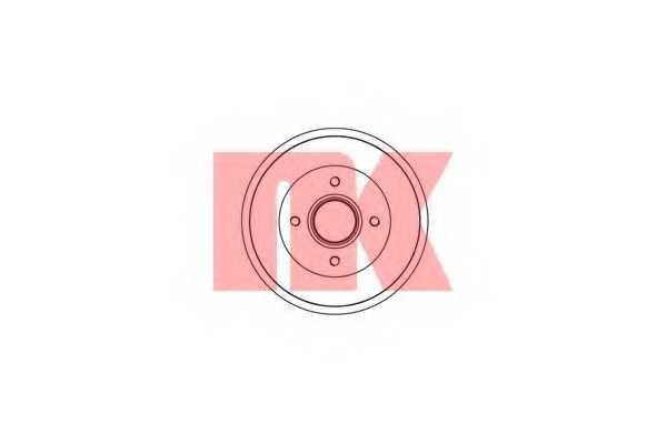 Тормозной барабан NK 253913 - изображение