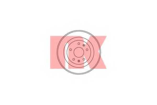 Тормозной барабан NK 254002 - изображение
