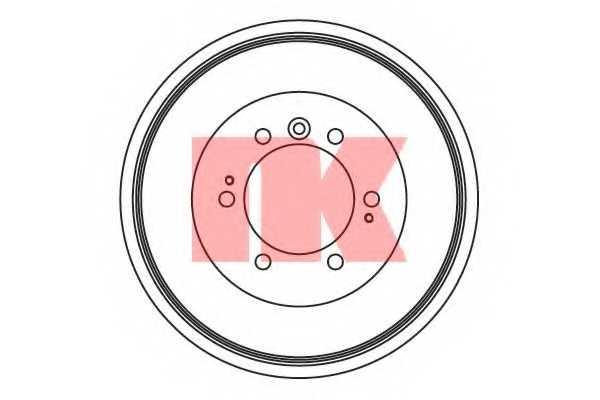 Тормозной барабан NK 254525 - изображение