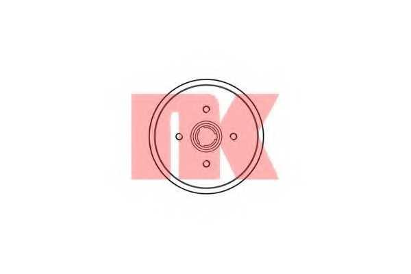 Тормозной барабан NK 254708 - изображение