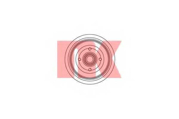 Тормозной барабан NK 254720 - изображение