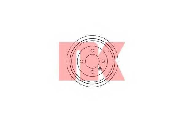 Тормозной барабан NK 254725 - изображение