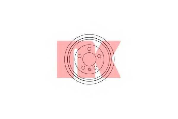 Тормозной барабан NK 254727 - изображение