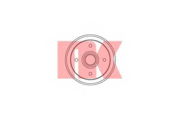 Тормозной барабан NK 255004 - изображение