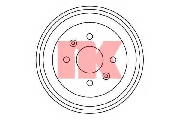 Тормозной барабан NK 255005 - изображение