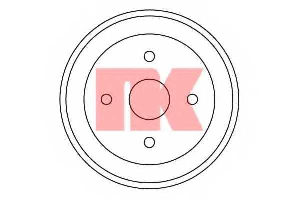 Тормозной барабан NK 255209 - изображение