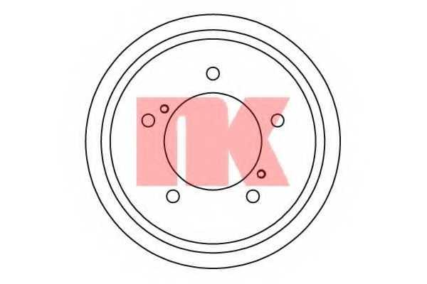 Тормозной барабан NK 255212 - изображение