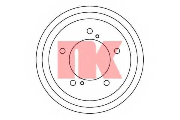 Тормозной барабан NK 255213 - изображение