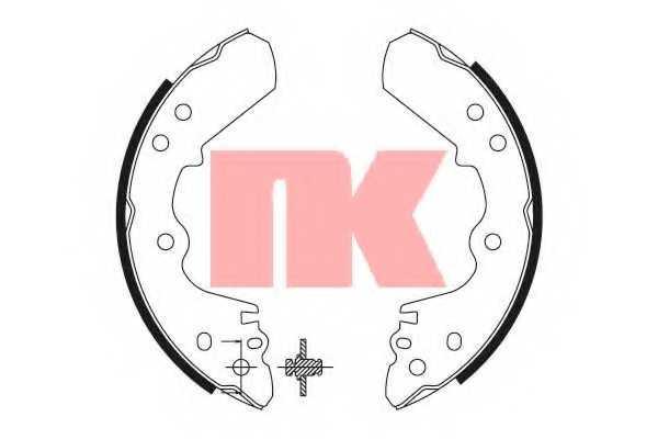 Комплект тормозных колодок NK 2714528 - изображение