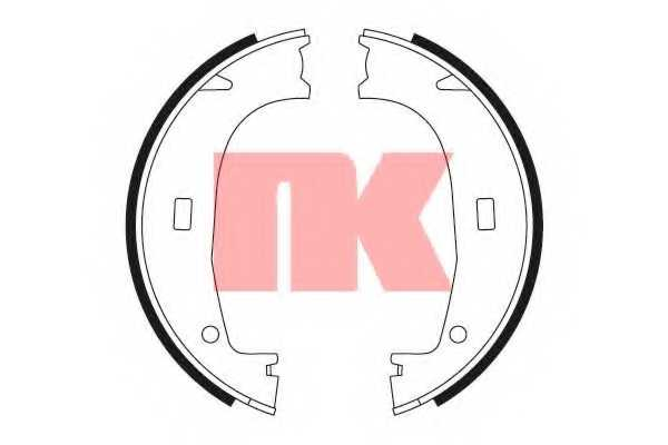 Комплект колодок стояночной тормозной системы NK 2715553 - изображение