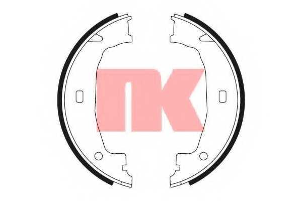 Комплект тормозных колодок NK 2715662 - изображение