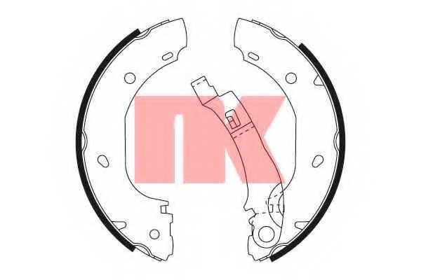 Комплект тормозных колодок NK 2719701 - изображение
