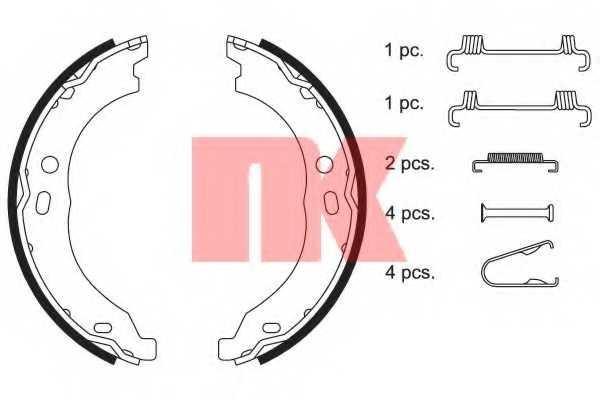 Комплект колодок стояночной тормозной системы NK 2719754 - изображение